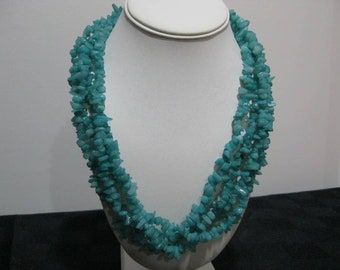 Green Chip Multi-Layer Necklace