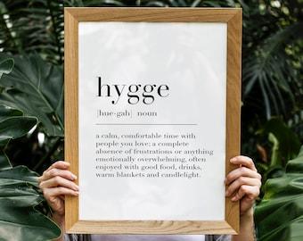 Hygge,Hygge Print,Hygge Poster,Hygge Definition,Hygge Sign,Hygge Wall Decor,Definition Print,Hygge Definition Print,Minimalist Print