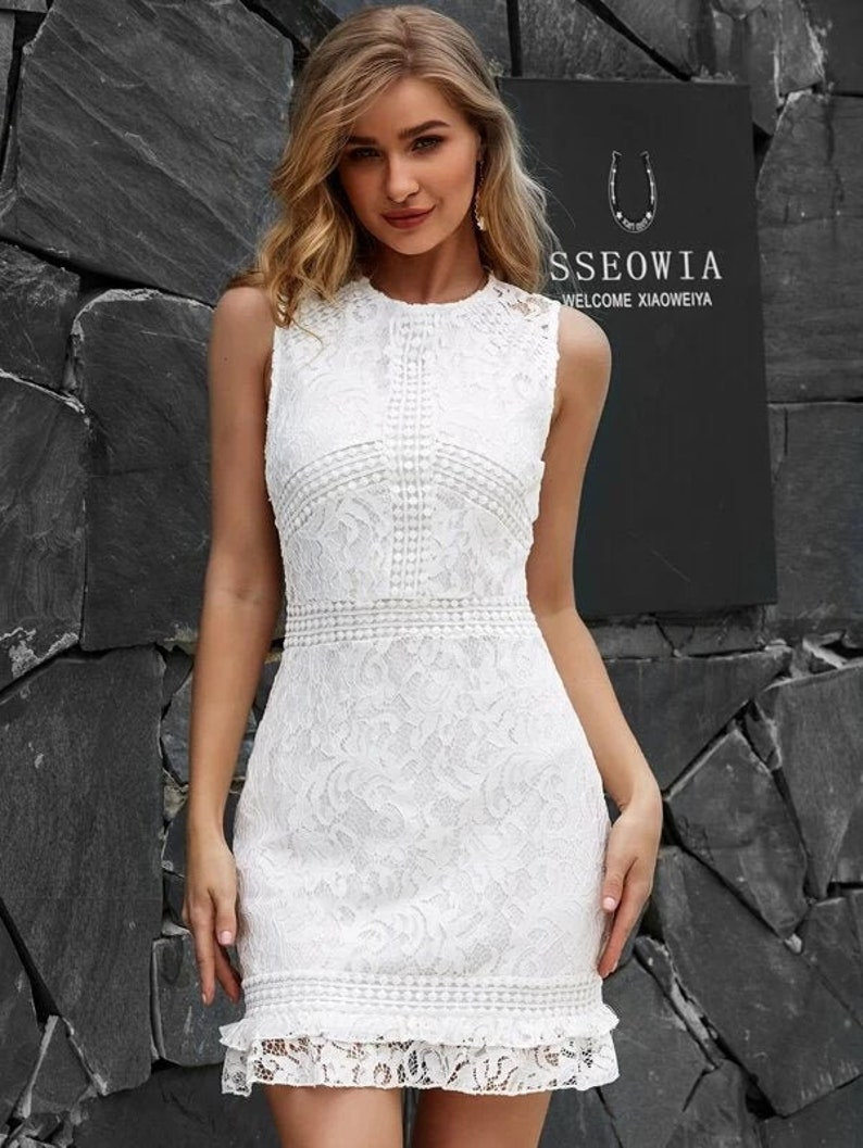 Dress For Women Lace Dress Mini Dress Summer Dress Short image 0