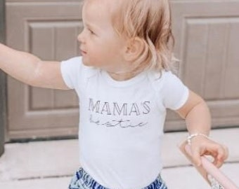 Mama's Bestie Kid's bodysuit, Mothers Day Shirt, Mama Unisex Tee, Mamas Girl, Mamas Boy Baby, Mama and Mini matching