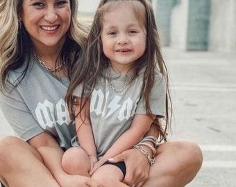Mama and Mini Matching Shirts, Mama and Mini Modern T-Shirt, Mommy and me matching shirts,  Mama Shirt, Mothers day gift