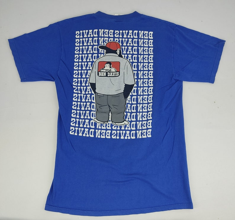 Vintage 90s Ben Davis USA Big Ape Logo Spell Out Tee T-shirt Printed Modern Classic Fashion Inspired Designer Streetwear