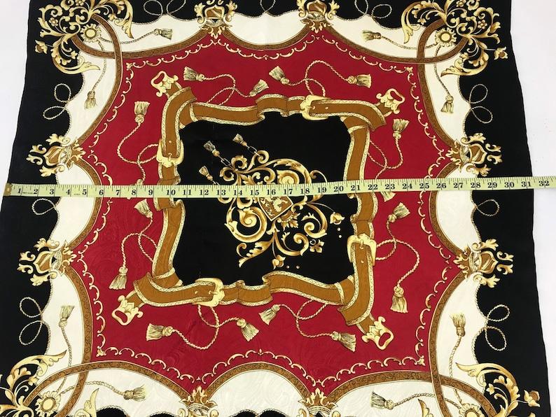 Vintage Silk Scarf Nice Design Scarf Classic Tools Motif Luxury Fashion Inspired Designer Brand Accessories L442
