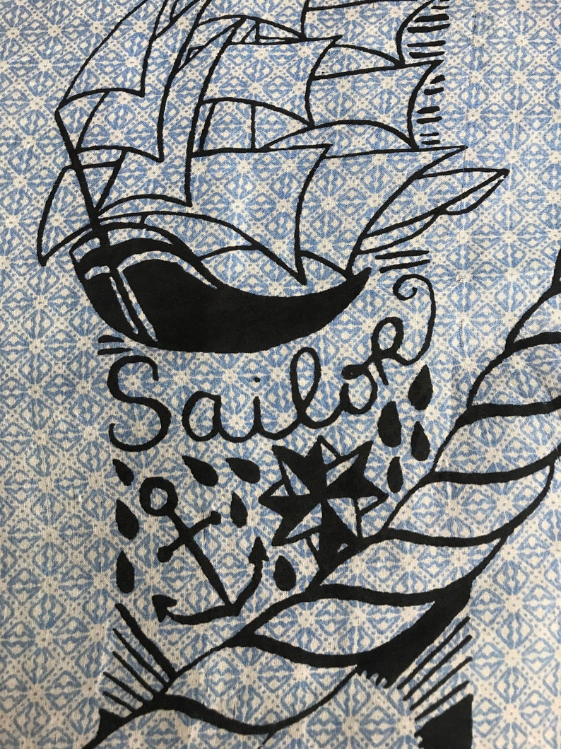 Vintage Silk Scarf Sailor Big Printed Nice Printed Scarf Classic Tools Motif Luxury Fashion Inspired Designer Brand Accessories L572