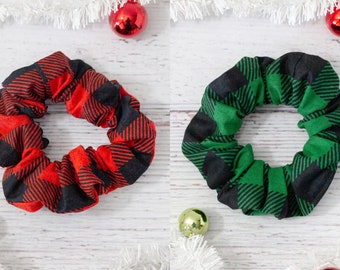 Pony Tail Holder Hair Accessory Holiday Christams Lights Scrunchie Christmas
