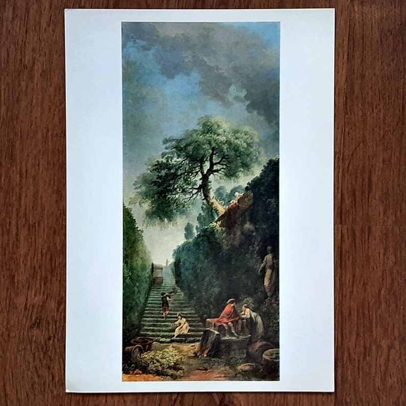 Postcards Art wall decor room aesthetic art of Paintings by the Artist of the 18th century artist postcards illustrated postcards