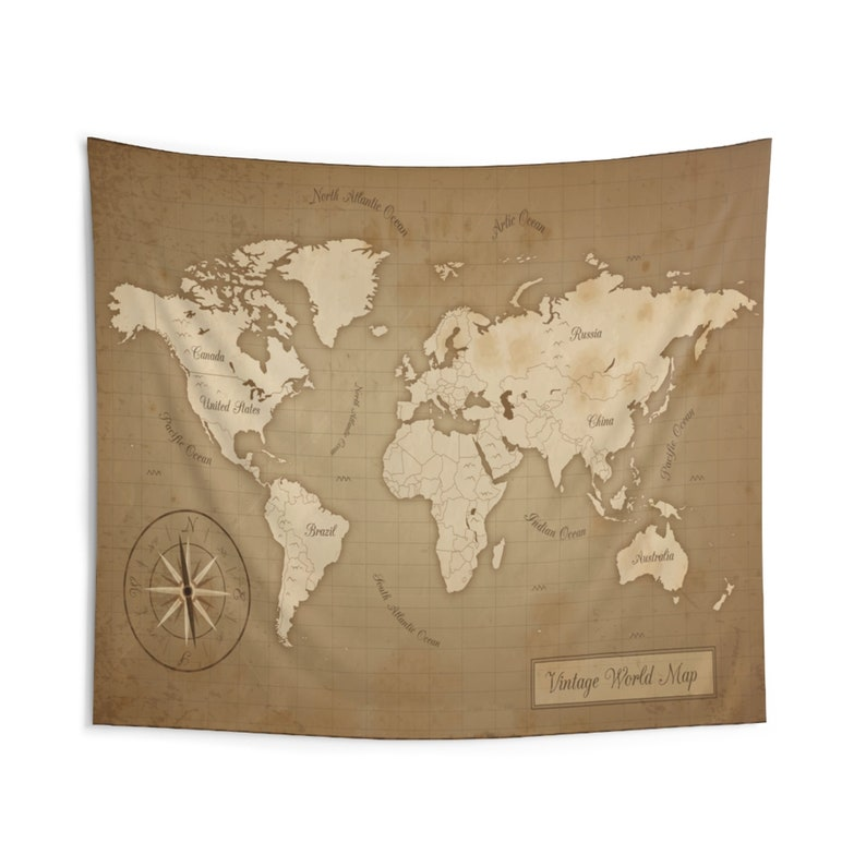 World Map Tapestry Wall Tapestry Tapestry Wall Hanging image 0