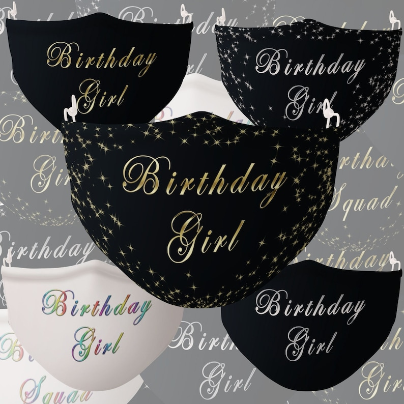 Birthday Girl Face Mask Birthday Girl Face Mask for Women image 0