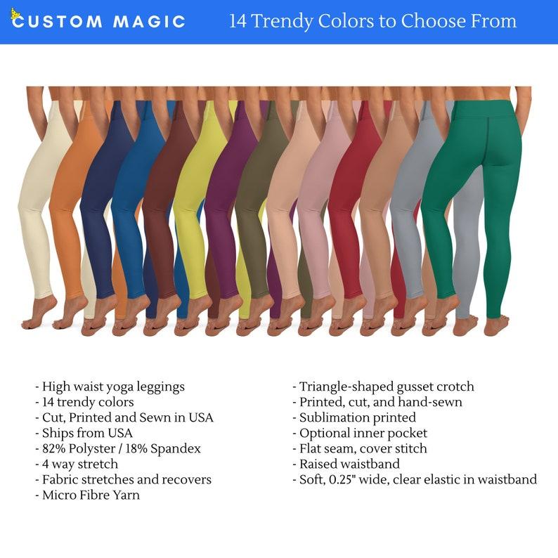 Yoga Leggings  Solid Color Leggings  Yoga Leggings Women  image 0