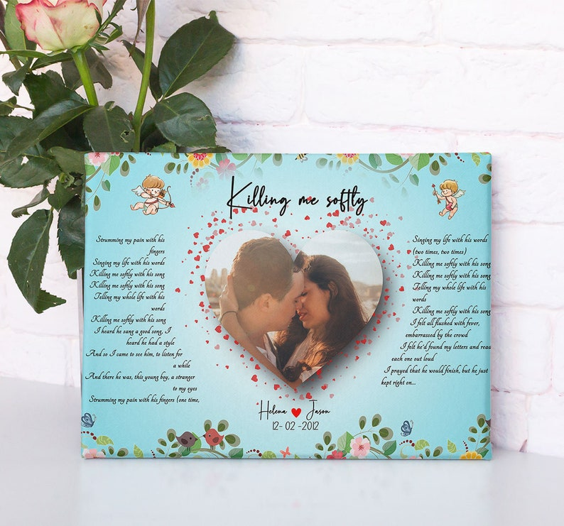 Customized personalized Beautiful lyrics song with your pictures and names