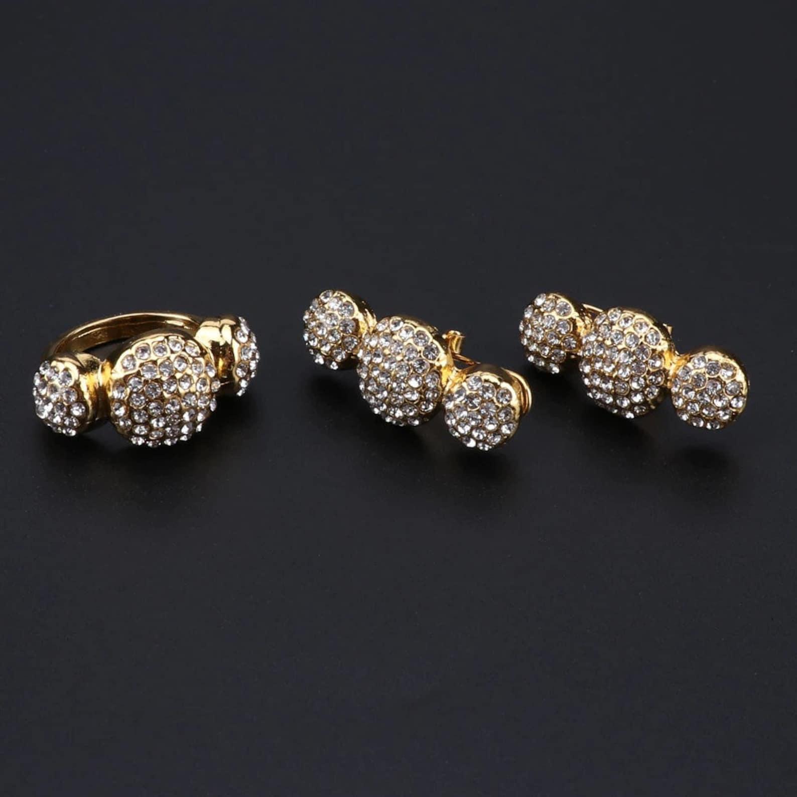 luxus afrikanische perlen schmuck set braut geschenk gold
