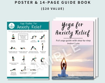 Yoga for anxiety relief: Poster AND Full Step-by-Step Guide