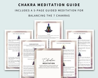 Chakra Meditation Guide (7 Chakras Chart)