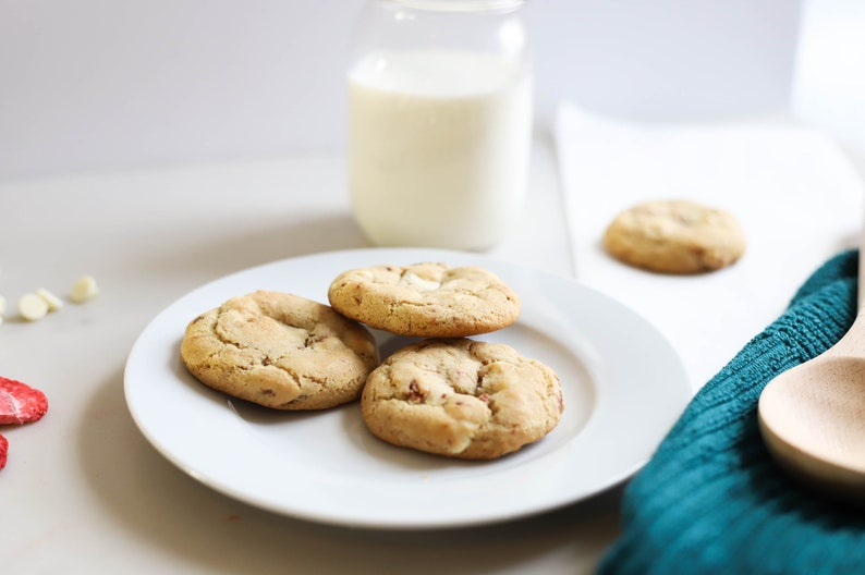 Gluten Free White Chocolate Strawberry Cookies  Allergy image 0