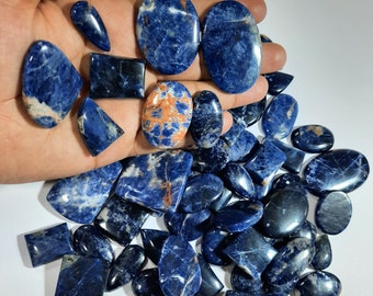 Good Quality Gemstone Beautiful Blue Sodalite Cabochon.Mix Shape Natural Gemstone Sodalite Jewelry Wire Wrap Cabochon.Silversmith Gemstone