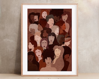 Support Your Local Girl Gang House Print Art Modern Girl Power Art Print