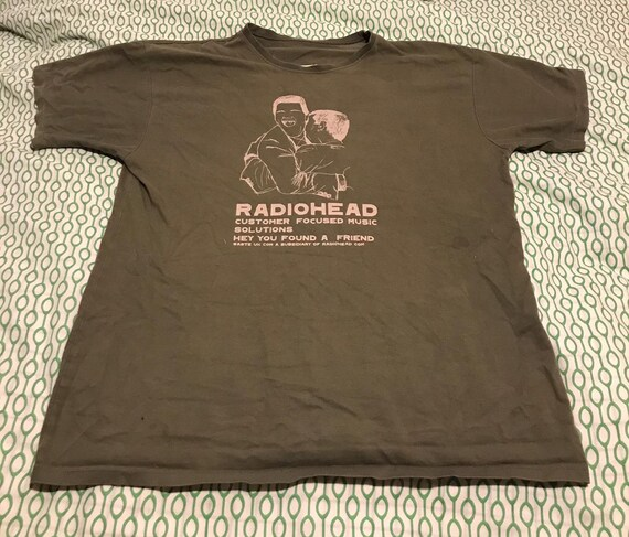 Rare Radiohead T-shirt XL sandbag (w.a.s.t.e. sist