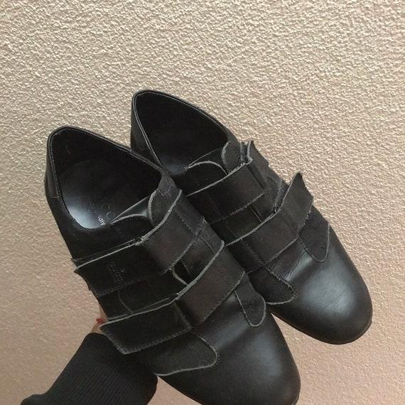 Vintage Gucci velcro shoes loafers 43EU