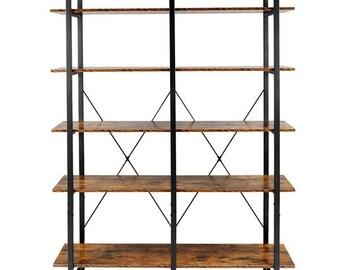 Ladder Shelf 4//5 Tier Metal Bookshelf Display Rack Plant Stand Storage Holder UK