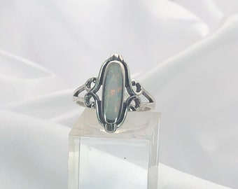 2-Strand Bird Nest Swirl Shape Statement Ring Sterling Bird Ring with Black Opal Chrome Diopside and CZ Gemstones
