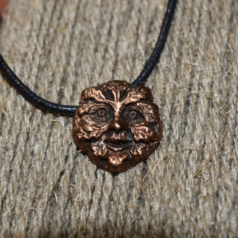 Green Man bronze necklace Jack the Green pendant