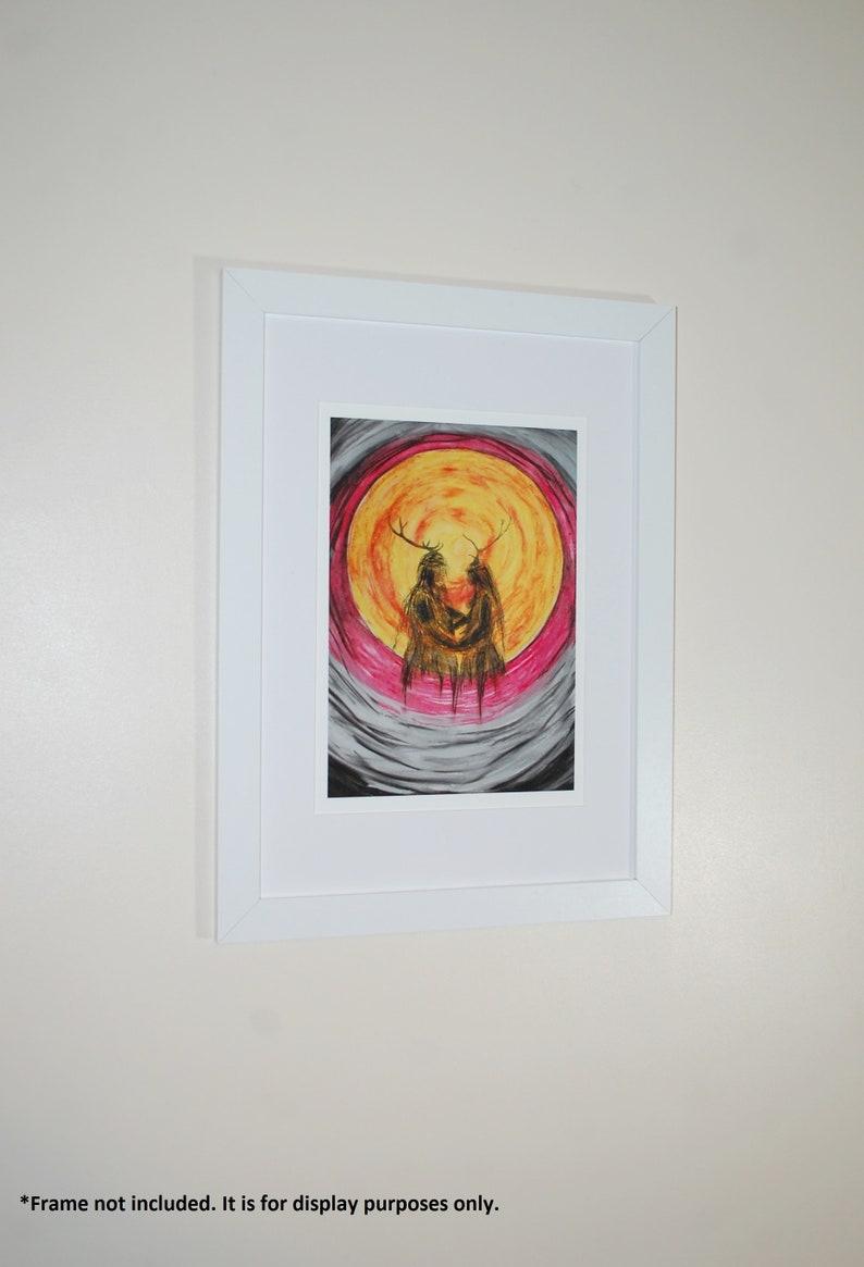 Heilung inspired print of an original oil pastel artwork