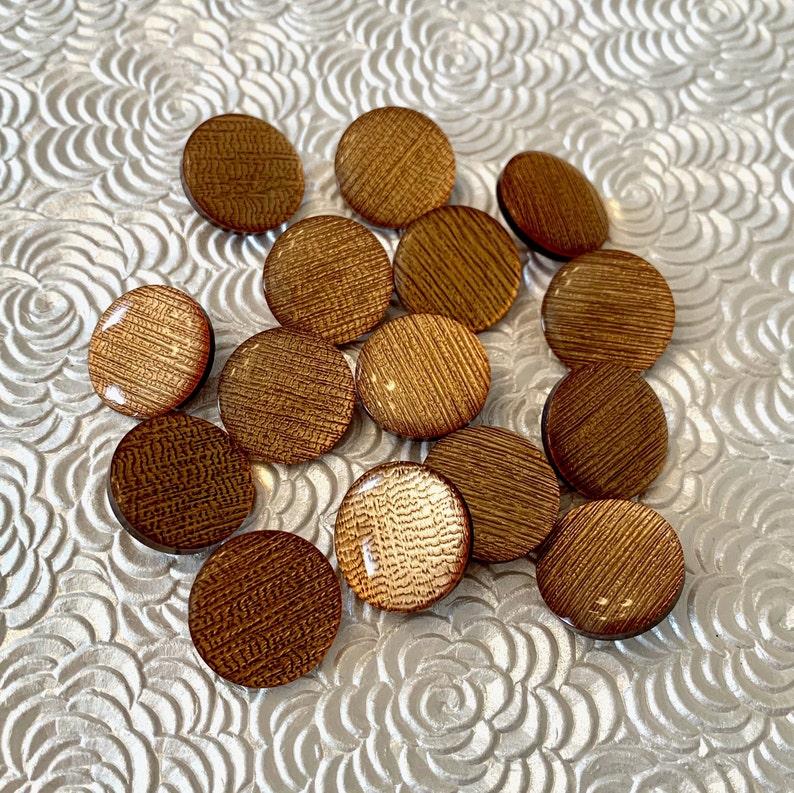 Copper Bronze Color Plastic Shank Buttons set of 15
