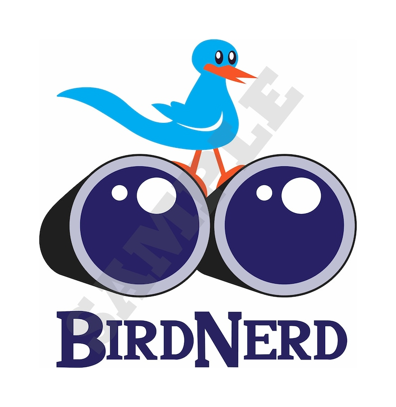 Bird Nerd SVG DXF Graphic Art Cut Files