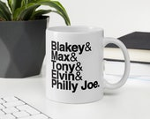 Jazz Drummer Mug - Art Blakey, Max Roach, Elvin Jones, Tony Williams, Philly Joe Jones