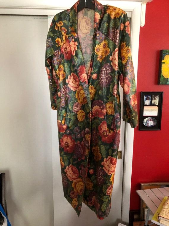Antique floral raincoat