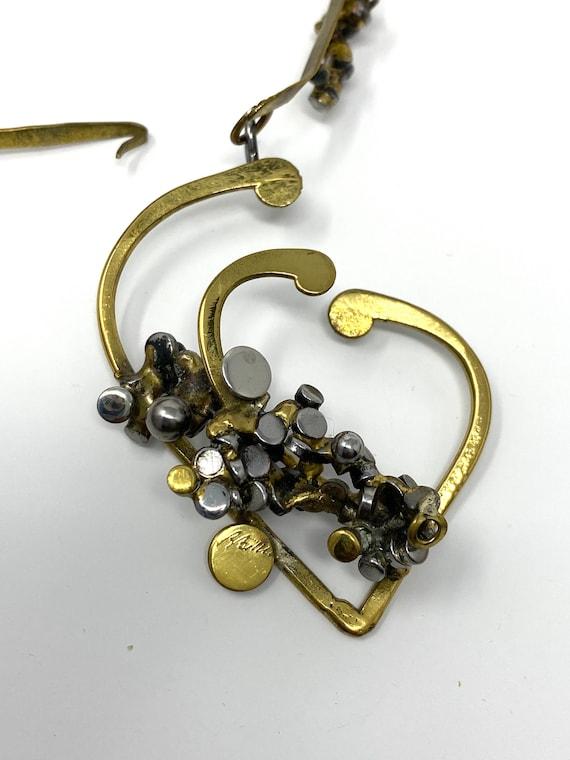 Bitterman Brutalist Pendant Necklace