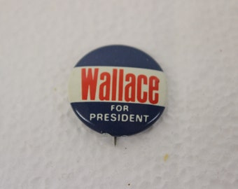 Rare 1968 ELECT WALLACE LEMAY President Vice President 1 34\u201d Round Lapel Pin Both Pix Pin Election Political Campaign