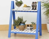 Ladder Plant stand blue
