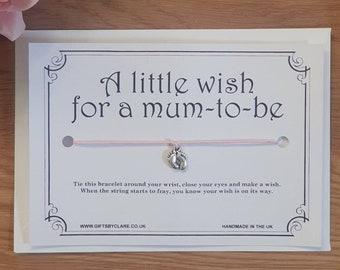 Mum To Be Wish Card & Bracelet
