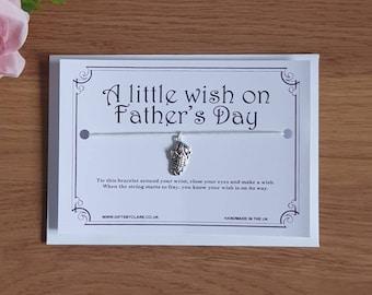 Fathers Day Wish Card & Bracelet