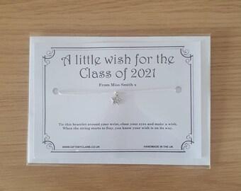 Class of 2021 Wish Card & Bracelet