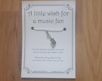 Music Fan Wish Card & Bracelet