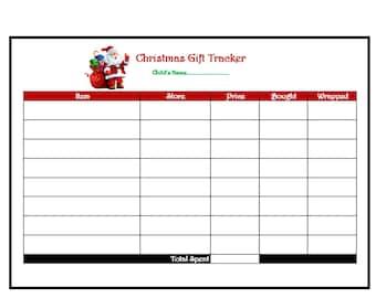 Christmas Gift Tracker With December 2021 Calendar (DIGITAL DOWNLOAD)