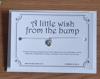 From the Bump Wish Card & Bracelet