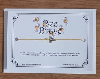Bee Brave Wish Card & Bracelet