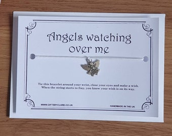 Angels Watching Over Me Wish Card & Bracelet