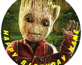 Personnalisé Bébé Groot Glitter Birthday Cake Topper Guardians of the Galaxy