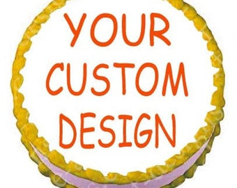 """Create Your Own Edible Image Birthday Cake Topper 8"""" Round Personalized"""