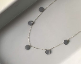 Dainty 925 Sterling Silver · Polymer Clay · Everyday Necklace · Minimalist Jewelry · Delicate Modern Necklace · Moon Vista
