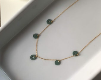 Dainty 14k Gold · Polymer Clay · Everyday Necklace · Minimalist Jewelry · Delicate Modern Necklace · Sage Cholla