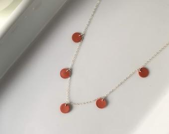 Dainty 925 Silver · Polymer Clay · Everyday Necklace · Minimalist Jewelry · Delicate Modern Necklace · Cinna Vista