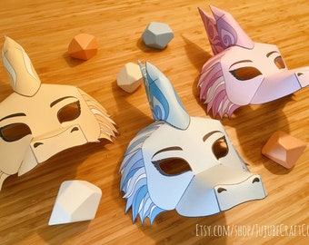 3 Printable Dragon Masks, 1 Black and White Mask to color (Raya and the Last Dragon)