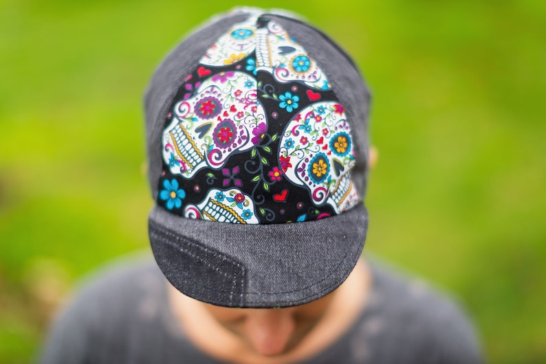 Day of the Dead Black Cycling Cap image 0
