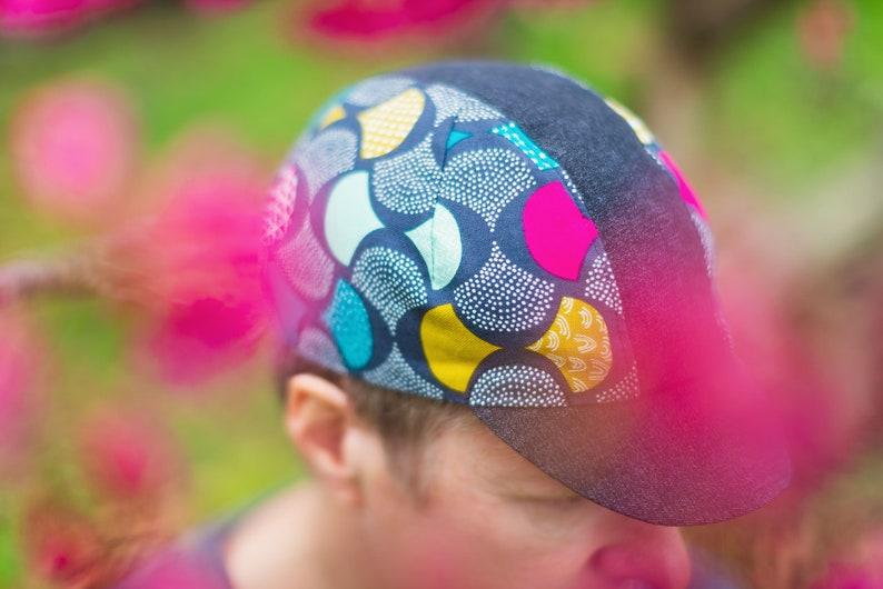 Geometric Petals Cycling Cap image 0