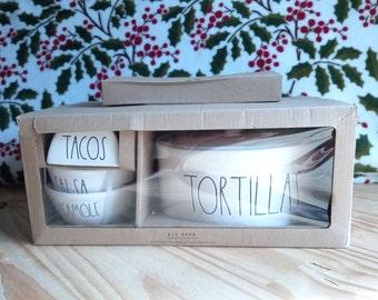 Rae Dunn Tortillas set